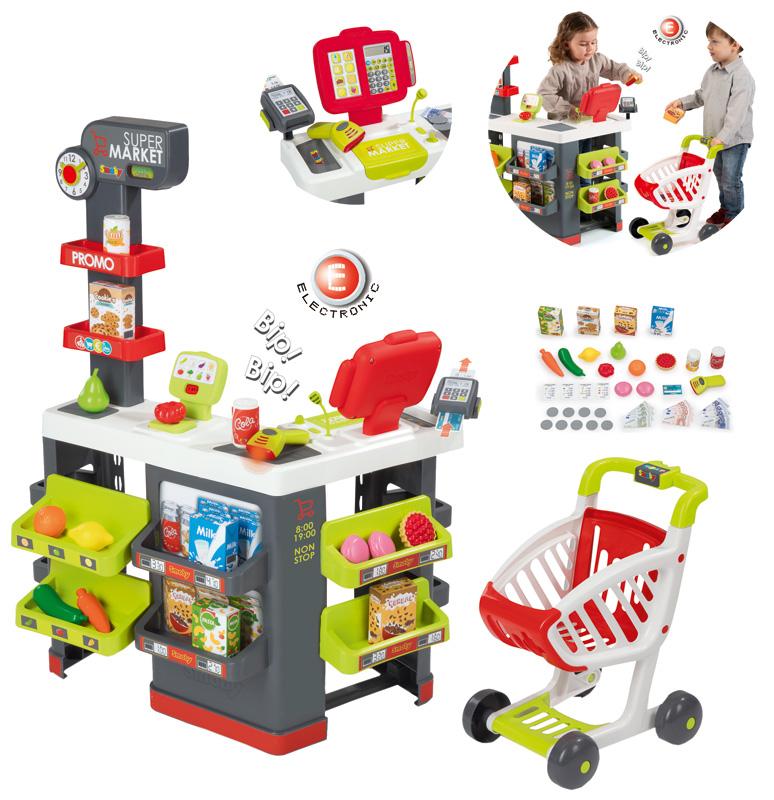 smoby-gro-er-supermarkt-mit-einkaufswagen-rot-kinderspielzeug-