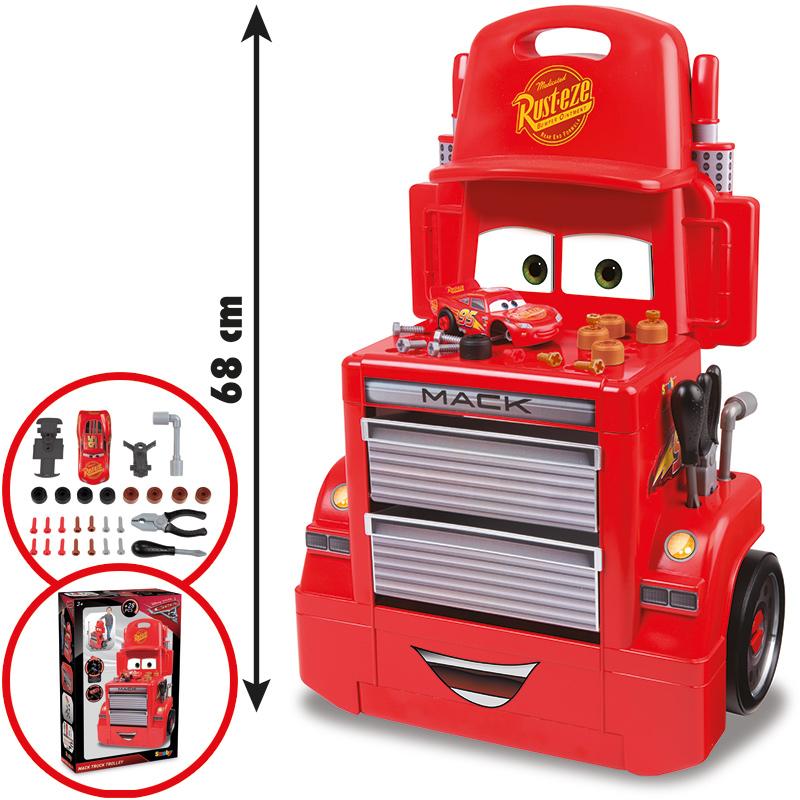 Smoby Cars Mack Truck Werkstatt-Trolley [Kinder...