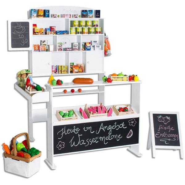 sun kaufmannsladen mit tafel und kundenstopper wei kaufladen kinder neu ebay. Black Bedroom Furniture Sets. Home Design Ideas