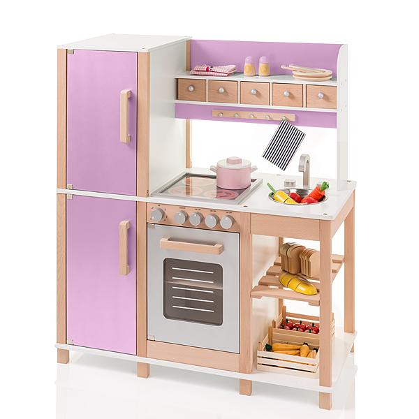 Große Kinderküche aus Holz (Buche-Flieder) [Kinderspielzeug]