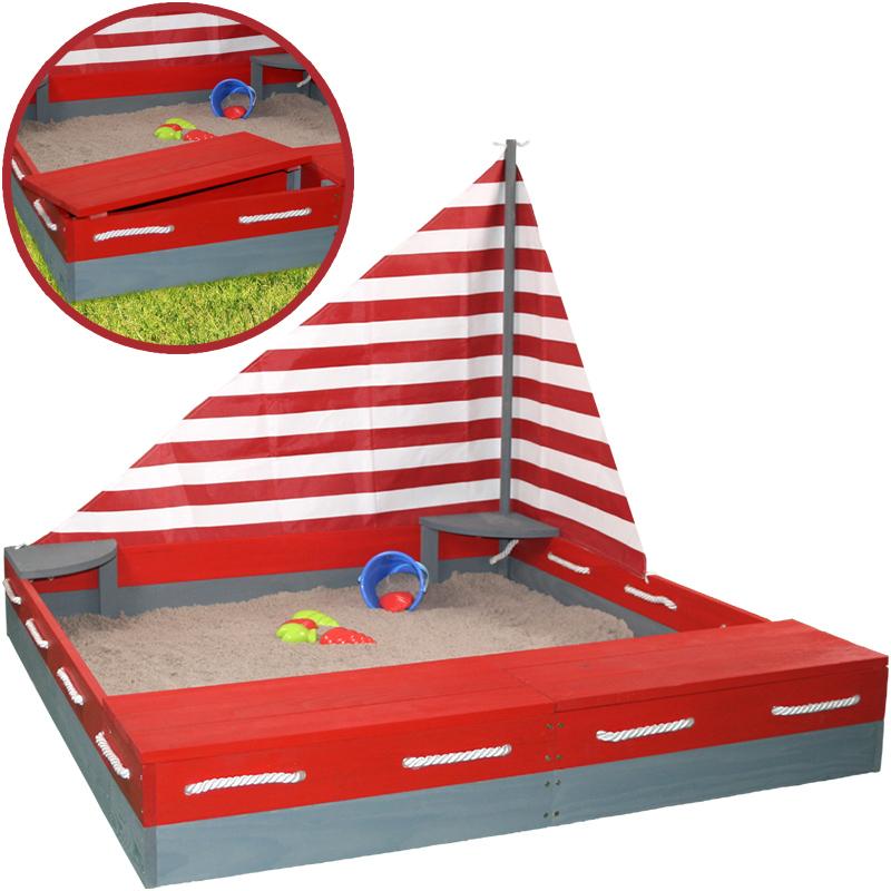 sun sandkasten seefahrer aus holz mit segel und. Black Bedroom Furniture Sets. Home Design Ideas