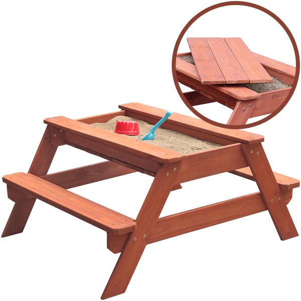 Kindersitzgarnitur mit Sandkasten Freddy 2in1 (Braun) [Kinderspielzeug]