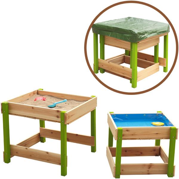 sun sand und wasserspieltisch lukas natur gr n. Black Bedroom Furniture Sets. Home Design Ideas