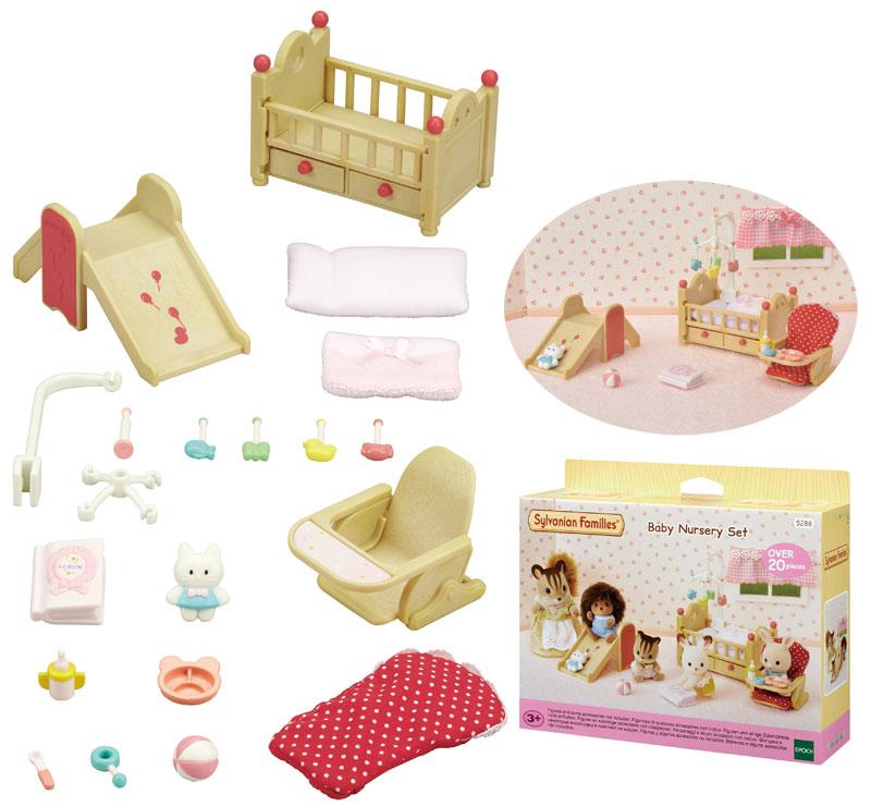Sylvanian Families Sylvanian Families Babyzimmer mit Rutsche und Hochstuhl [Kinderspielzeug]