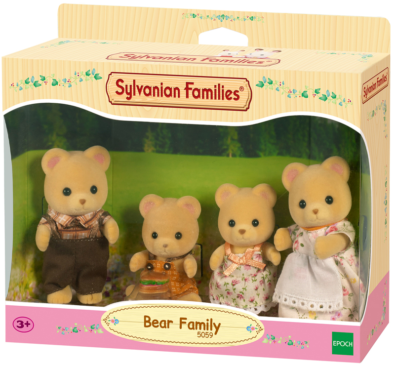 Sylvanian Families Bären Familie Pelzig [Kinder...