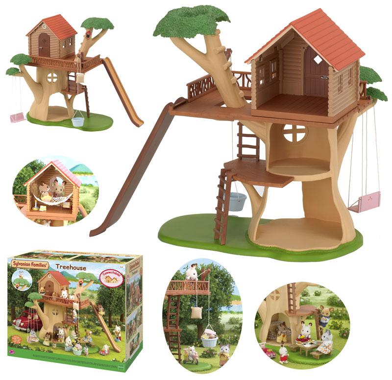 Sylvanian Families Sylvanian Families Baumhaus mit 3 Etagen und Rutsche [Kinderspielzeug]