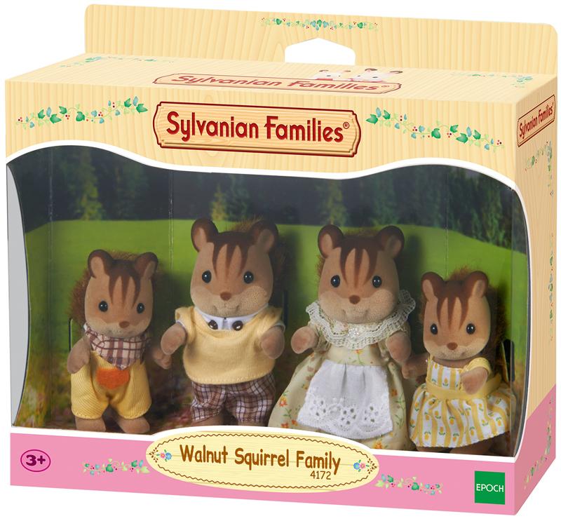 Sylvanian Families Walnuss Eichhörnchen Familie...