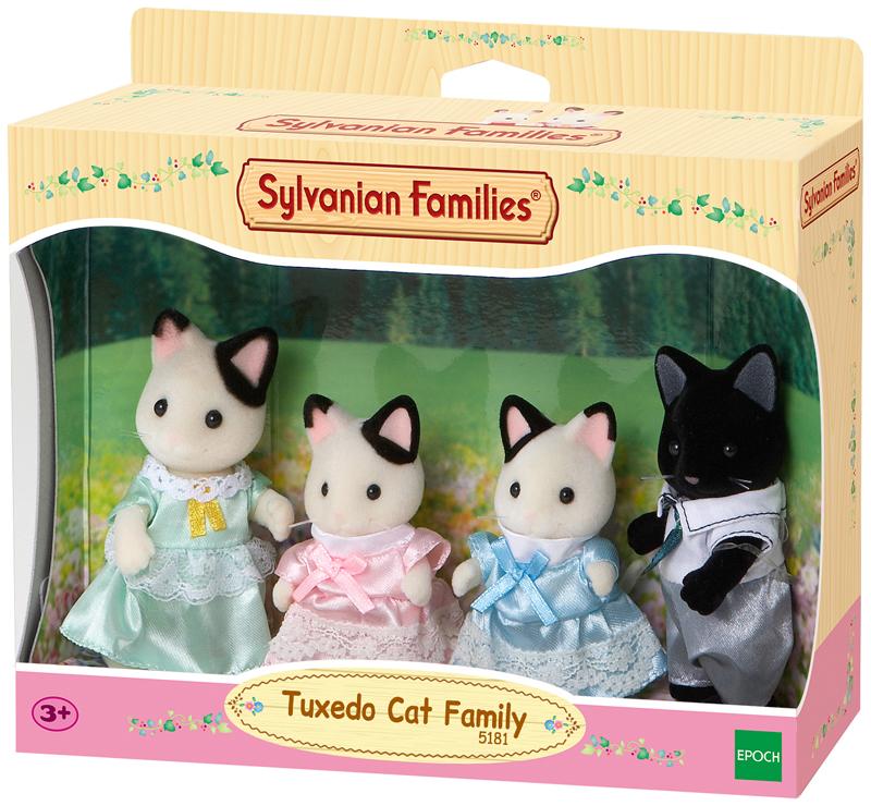 Sylvanian Families Tuxedo Katzen Familie Schwar...
