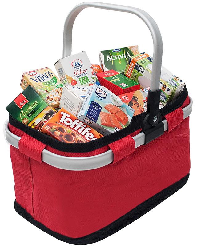 Shopping Bag Top Wassermelonen Sea Girl Einkaufstasche Weiß Marineblau Aus Segeltuch
