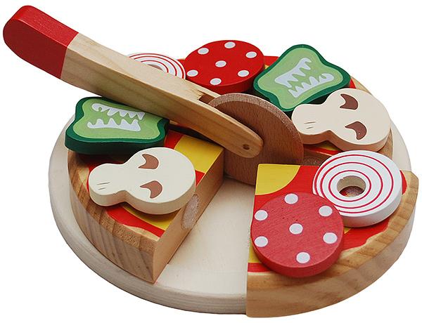 Tanner Pizza Aus Holz Zum Schneiden Bei Spielzeug24