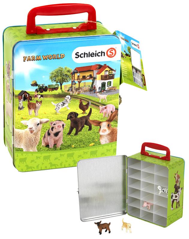 Ravensburger Schleich Farm World Sammelkoffer für Tiere (Grün-Blau) [Kinderspielzeug]
