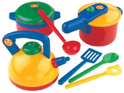 Theo Klein Großes Topfset mit Zubehör (Bunt) [Kinderspielzeug] - Preisvergleich
