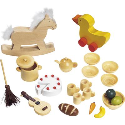 23-teilige Puppenhaus-Accessoires Puppenhaus [Kinderspielzeug]