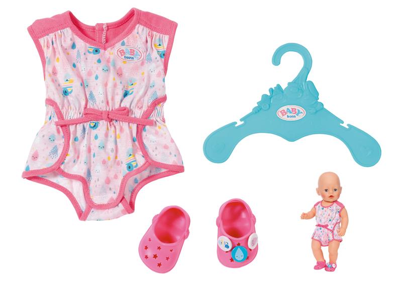 zapf-creation-baby-born-shorty-pyjama-mit-clogs-rosa-kinderspielzeug-