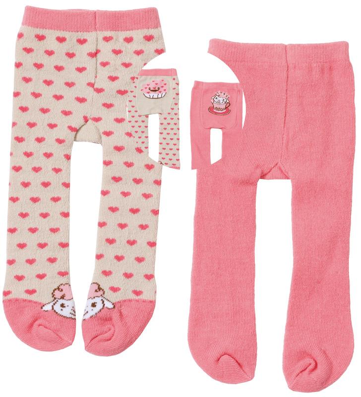 zapf-creation-baby-annabell-strumpfhosen-set-40-46-cm-rosa-beige-kinderspielzeug-