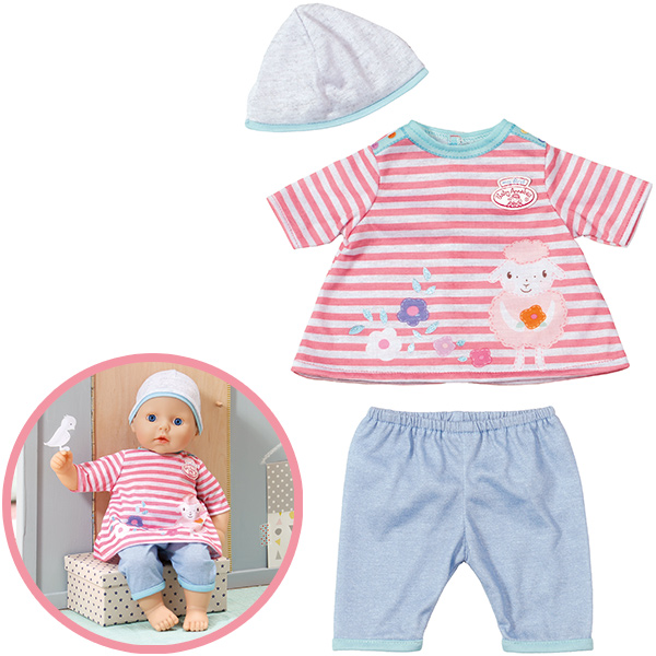 zapf creation my first baby annabell spiel outfit rosa blau ebay. Black Bedroom Furniture Sets. Home Design Ideas