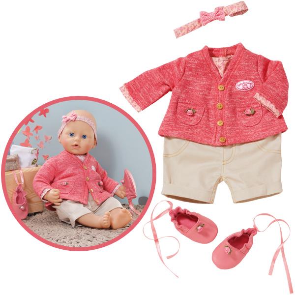 zapf creation baby annabell deluxe strickset rosa beige bei spielzeug24. Black Bedroom Furniture Sets. Home Design Ideas