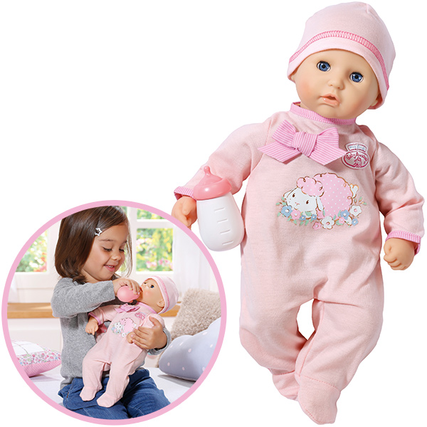zapf creation my first baby annabell puppe mit schlafaugen rosa 4001167794463 ebay. Black Bedroom Furniture Sets. Home Design Ideas