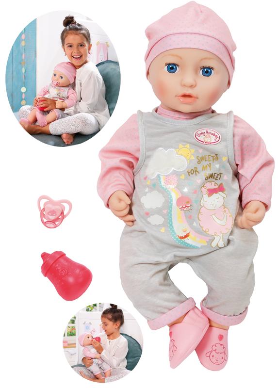zapf-creation-baby-annabell-puppe-mia-so-soft-43-cm-grau-rosa-kinderspielzeug-