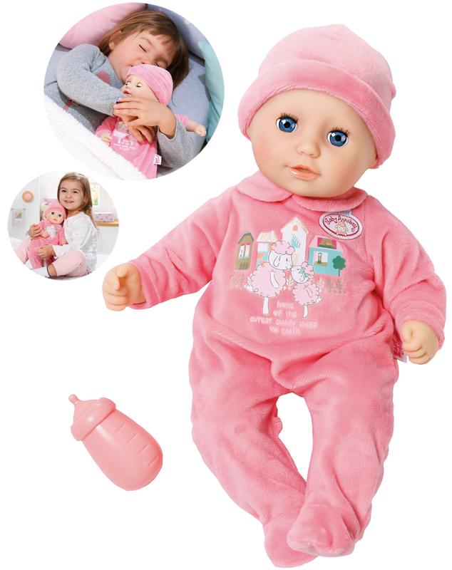 zapf-creation-my-first-baby-annabell-puppe-mit-schlafaugen-36-cm-pink-kinderspielzeug-