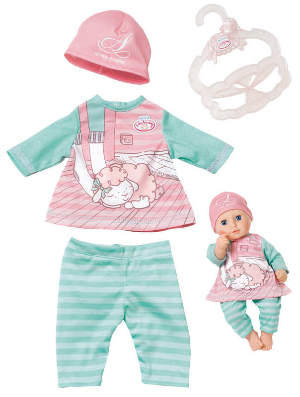 zapf-creation-my-first-baby-annabell-baby-outfit-30-36-cm-rosa-mint-kinderspielzeug-