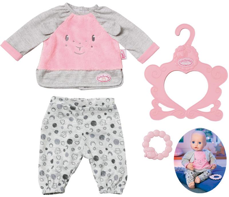 zapf-creation-baby-annabell-sweet-dreams-schlafanzug-40-46-cm-grau-rosa-kinderspielzeug-