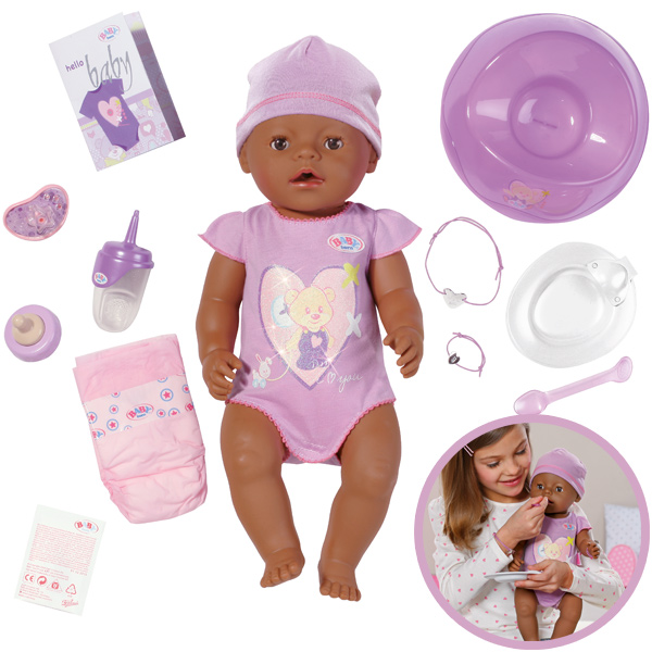 smoby baby born puppe interactive girl ethnik ebay. Black Bedroom Furniture Sets. Home Design Ideas