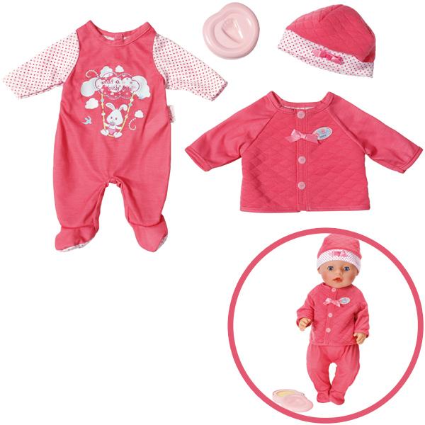 zapf creation baby born deluxe erstausstattung pink ebay. Black Bedroom Furniture Sets. Home Design Ideas