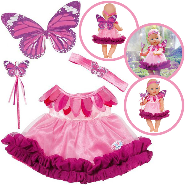 zapf creation baby born wonderland feenkleid rosa brombeer ebay. Black Bedroom Furniture Sets. Home Design Ideas