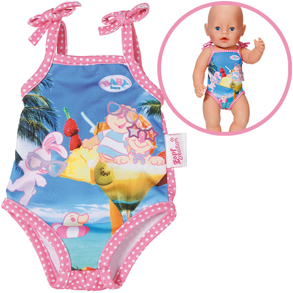 zapf creation baby born badeanzug pink bunt bei spielzeug24. Black Bedroom Furniture Sets. Home Design Ideas