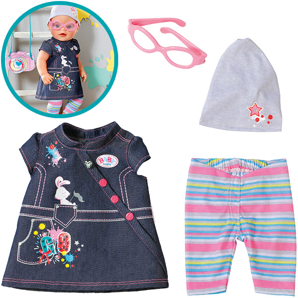Zapf Creation Baby Born Deluxe Jeans Kollektion Kleid [Kinderspielzeug]