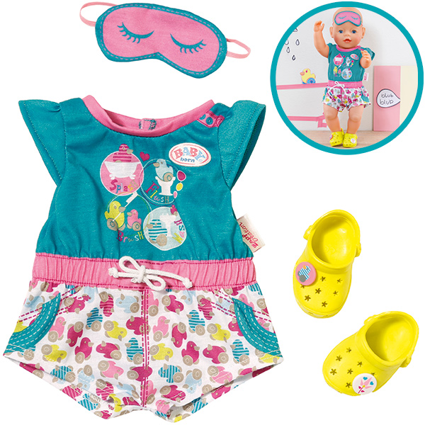 Zapf Creation Baby Born Shorty Pyjama mit Clogs [Kinderspielzeug]