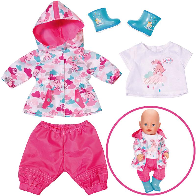 zapf creation baby born deluxe regenspa set 43 cm pink. Black Bedroom Furniture Sets. Home Design Ideas