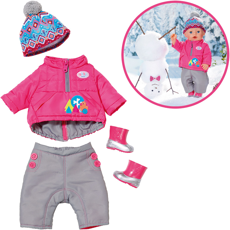 Zapf Creation Baby Born Play&Fun Deluxe Winter Set [Kinderspielzeug]