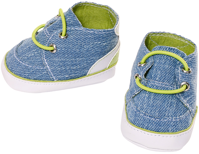 zapf creation baby born schuhe sneakers 43 cm blau bei. Black Bedroom Furniture Sets. Home Design Ideas