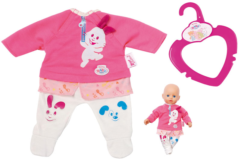 09e13939242eed Zapf Creation Baby Born My Little Baby Einteiler Hase 32 cm (Pink-Weiß)