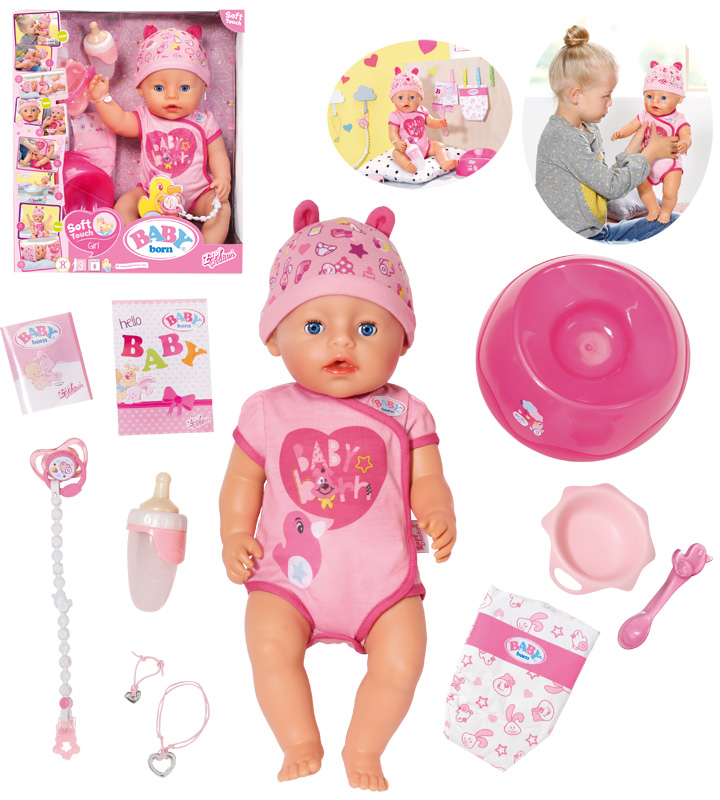 zapf-creation-baby-born-soft-touch-girl-puppe-43-cm-pink-kinderspielzeug-