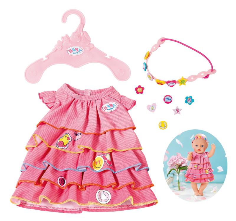 zapf-creation-baby-born-sommerkleid-set-mit-pins-rosa-kinderspielzeug-