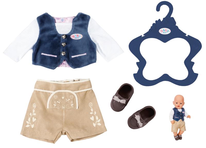 zapf-creation-baby-born-trachten-outfit-junge-blau-braun-kinderspielzeug-