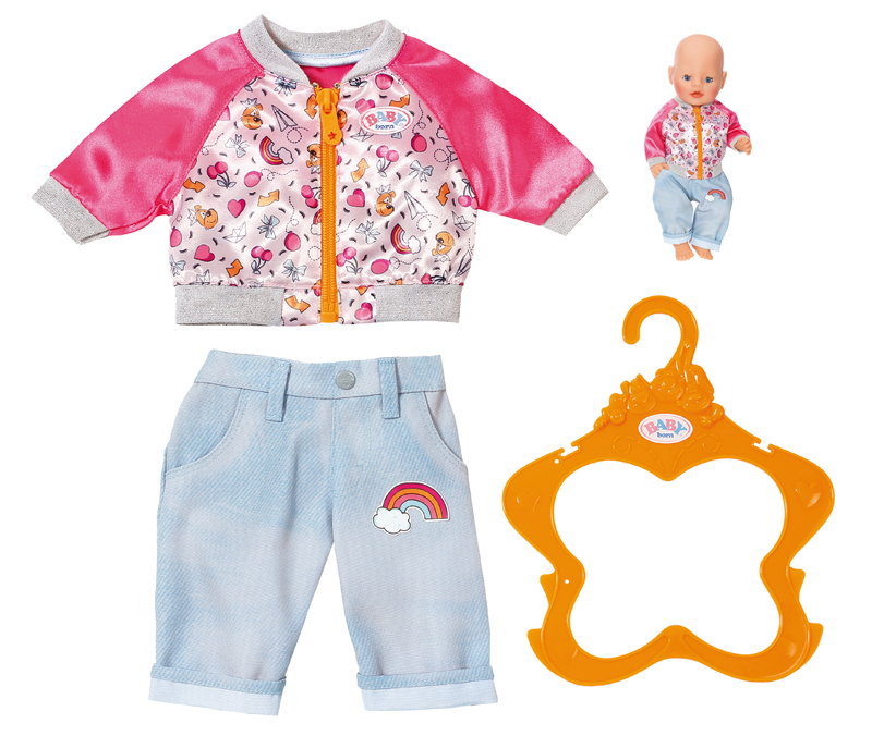 zapf creation baby born freizeit outfit 43 cm hellblau. Black Bedroom Furniture Sets. Home Design Ideas