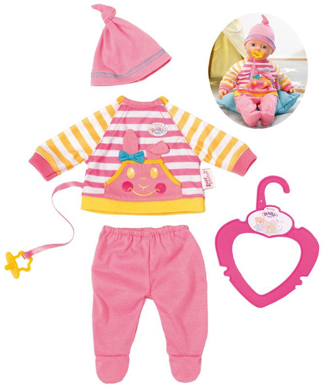zapf-creation-baby-born-my-little-baby-freizeit-kleidung-32-cm-pink-gelb-kinderspielzeug-