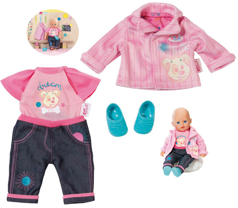 zapf-creation-my-little-baby-born-kita-outfit-gr-32-cm-pink-kinderspielzeug-