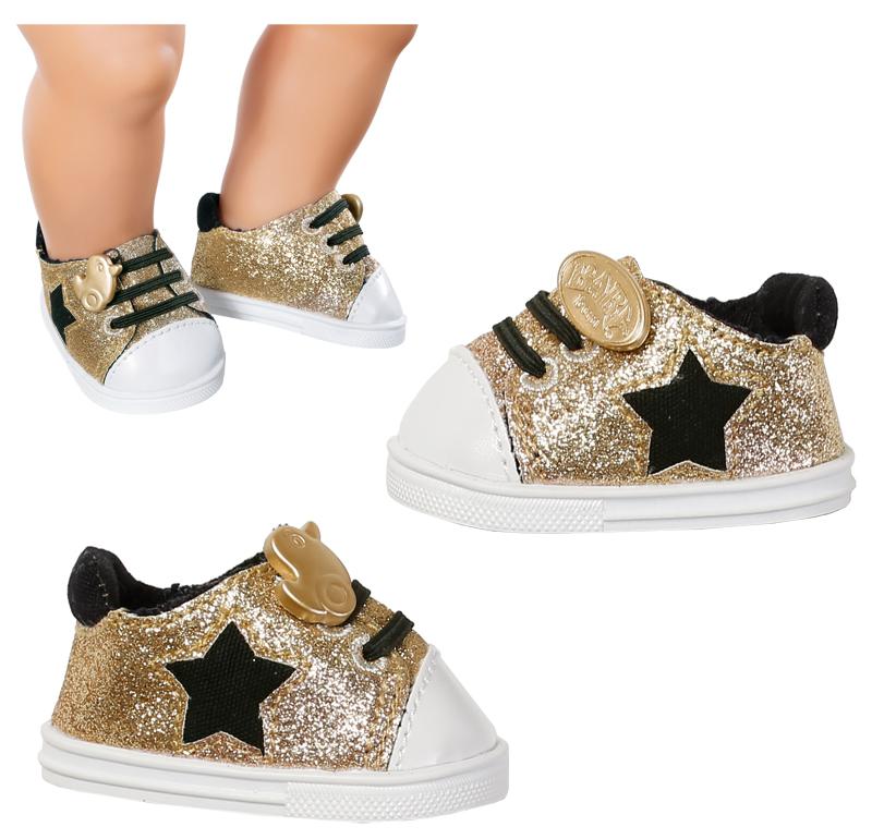 reputable site eebe2 fc82e Zapf Creation Baby Born Schuhe Trend Sneakers 43 cm (Gold ...