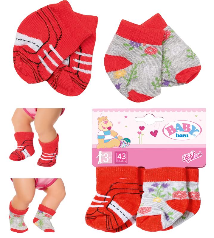 zapf-creation-baby-born-trend-socken-2er-pack-43-cm-rot-kinderspielzeug-