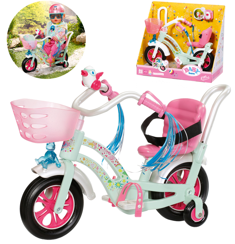 zapf-creation-baby-born-play-fun-fahrrad-mint-bunt-kinderspielzeug-