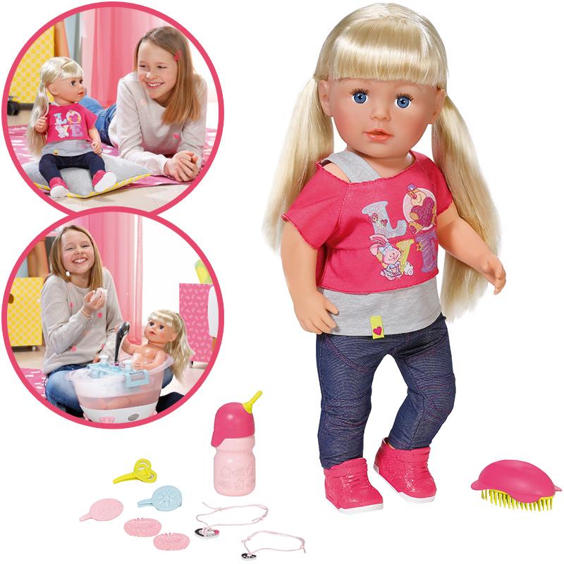 Zapf creation baby born puppe interactive sister bei nunon