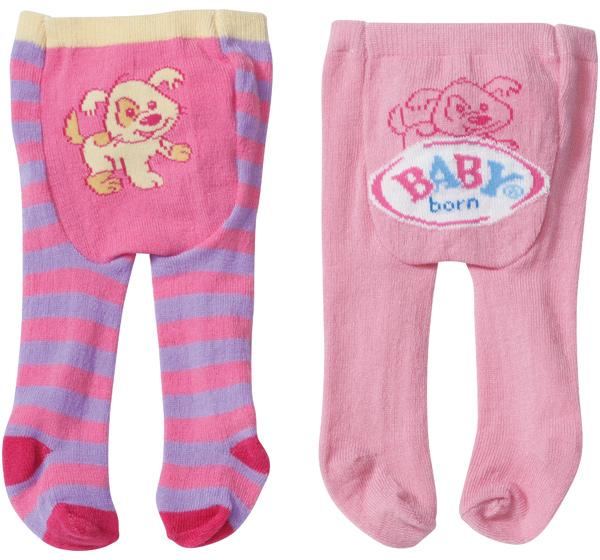 zapf creation baby born strumpfhosen set hund rosa lila. Black Bedroom Furniture Sets. Home Design Ideas