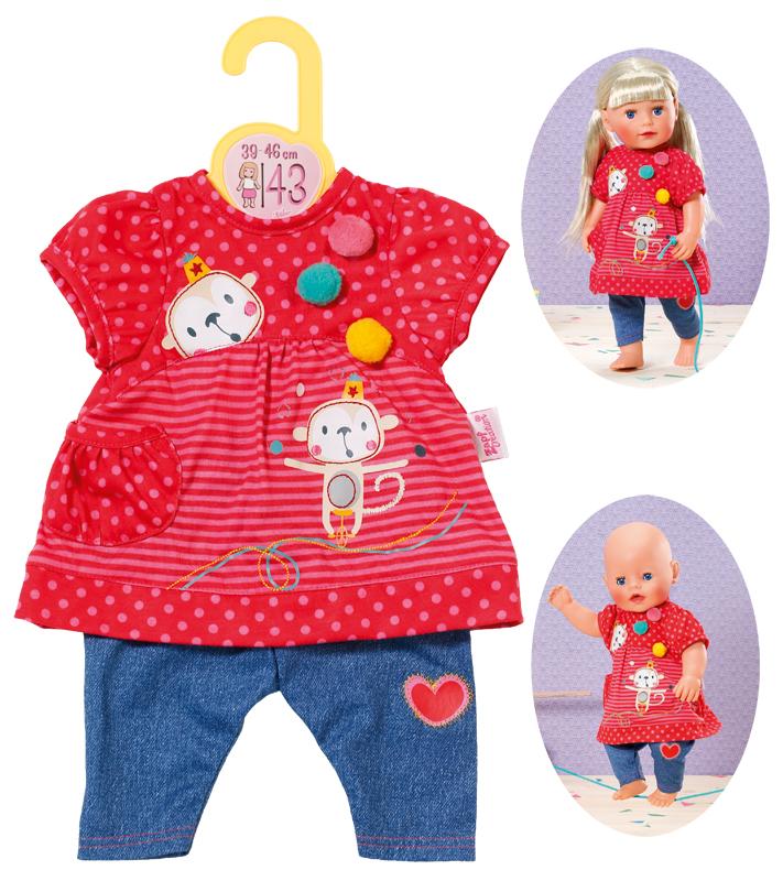 Weiß-Lila Babypuppen & Zubehör Zapf Creation Dolly Moda Einhorn Shirt mit Tutu 34-38 cm Puppen & Zubehör