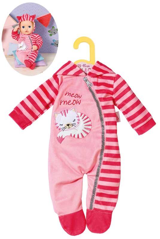 zapf-creation-dolly-moda-einteiler-katze-39-46-cm-pink-rosa-kinderspielzeug-