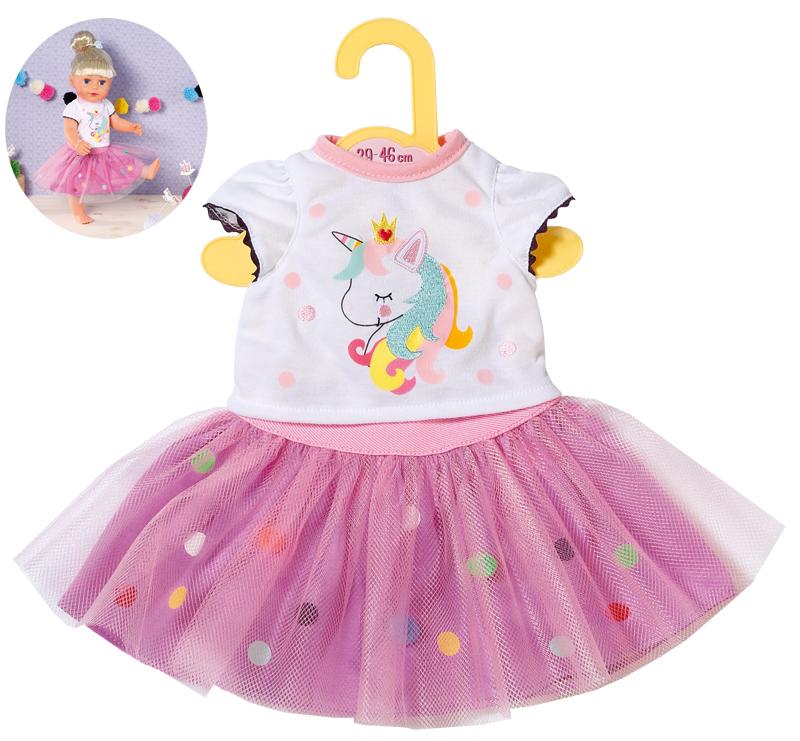 zapf-creation-dolly-moda-einhorn-shirt-mit-tutu-39-46-cm-wei-lila-kinderspielzeug-